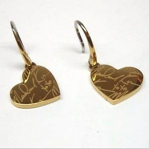 MIcheal Kors HEARTS XOXO SIGNATURE EARRINGS!